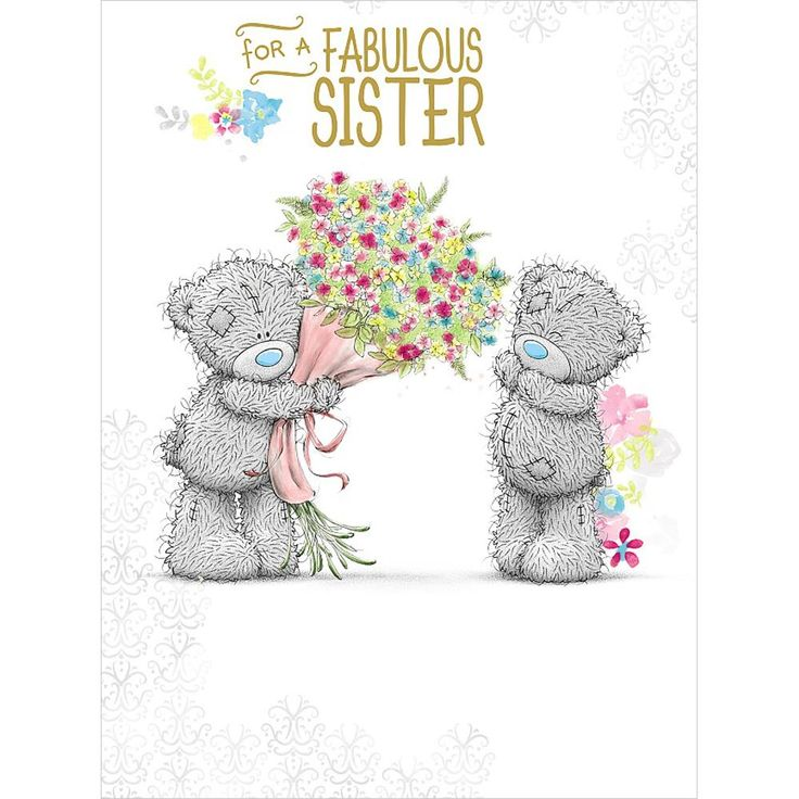 Fabulous Sister Me to You Bear Large Birthday Card  £3.59