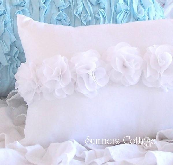Shabby Chic Blue Pillows : 17 Best images about Shabby Chic Pillows on Pinterest Blue shabby chic, Lace and Shabby