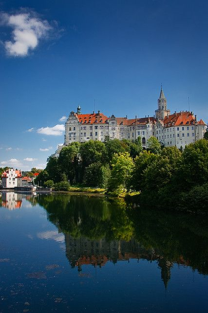 Sigmaringen Castle, Baden-Württemberg, Germany was the princely castle and seat of government for the Princes of Hohenzollern-Sigmaringen.  The castle and its museums may be visited throughout the year, but only on guided tours.  And it's on the Danube!  by bitrot