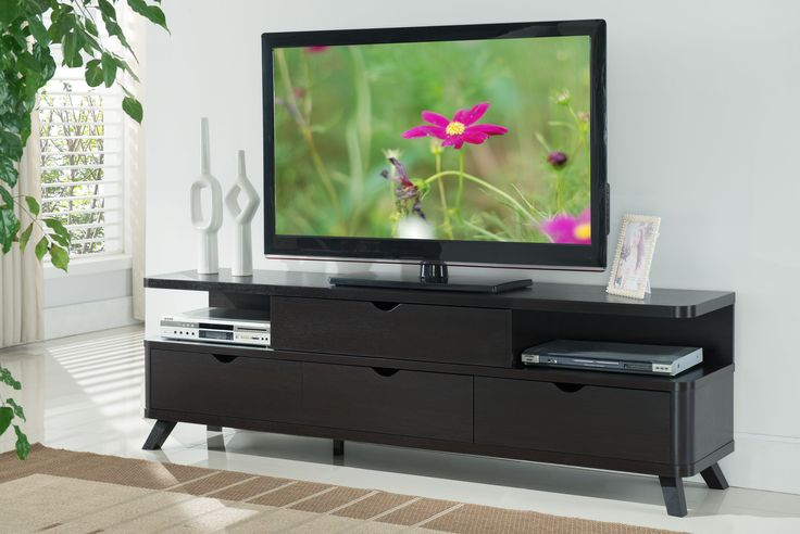 Furniture of America Morrison Open-Sided Shelf Cappuccino TV Stand, Brown
