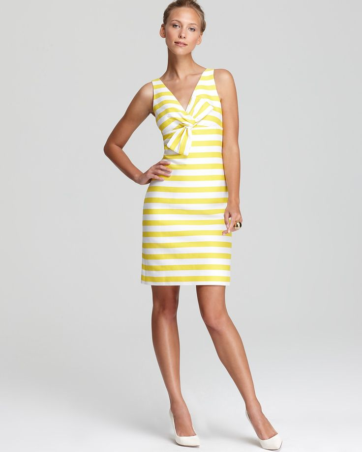 kate spade new york Silverscreen Dress in Donovan Yellow Petula Stripe | Bloomingdale's