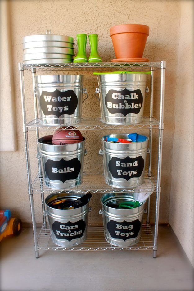 DIY Outdoor Toy Storage Ideas by DIY Ready at www.diyready.com/storage-solutions-life-hack/