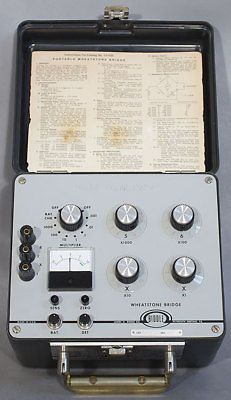 Biddle-Megger 72-430 Portable Wheatstone Bridge