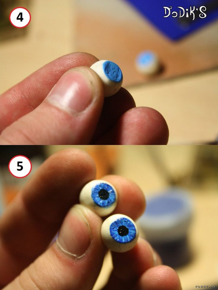 Let's make homemade realistic doll eyes using Fimo and effect gel.