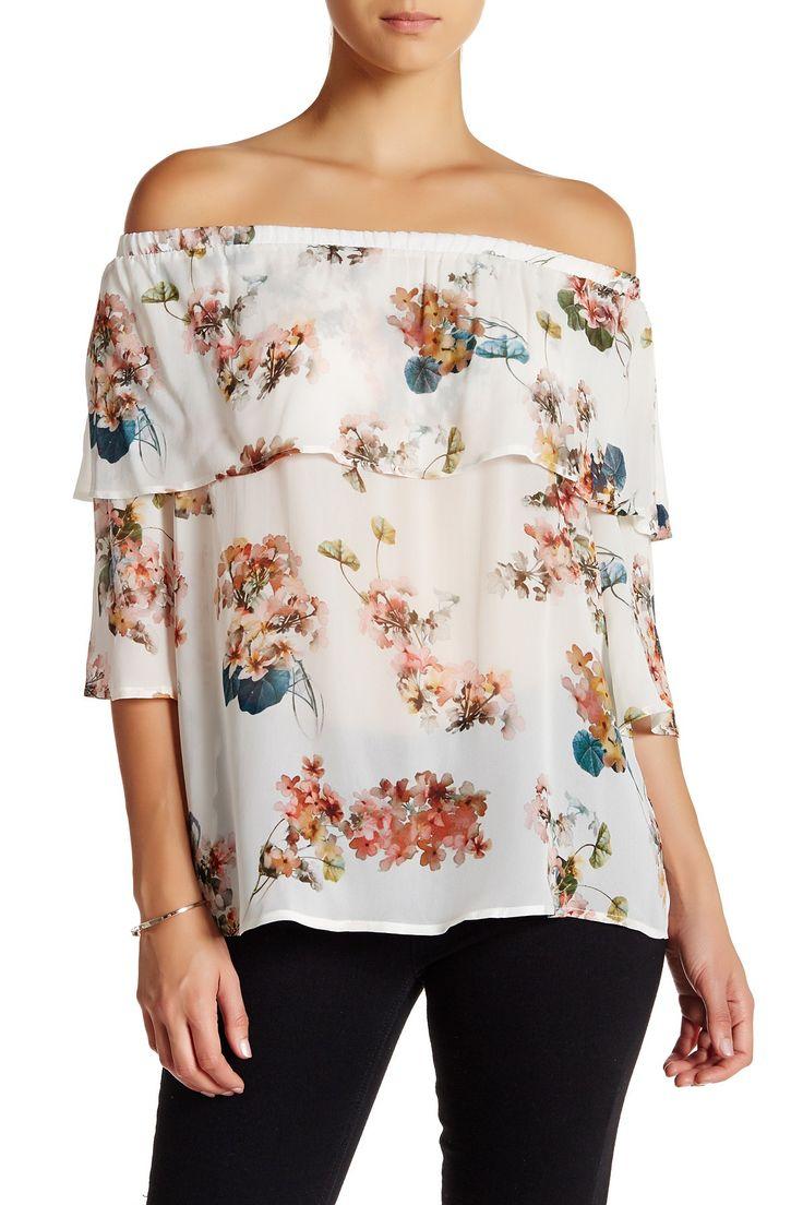 Florals are always a good idea. S.H.E. Off-The-Shoulder Blouse.