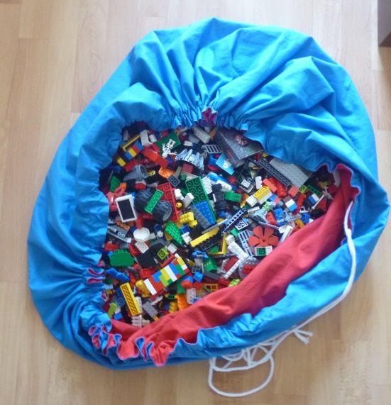 Lego Beutel  Endlich mal ganz einfach und doch so effektiv! Super einfache Anleitung