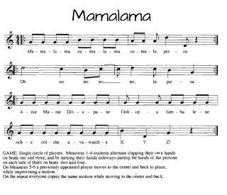 Mamalama fun  movement song