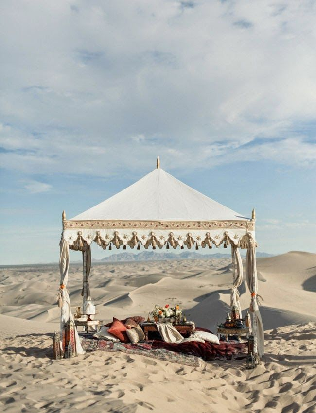 Glamping desert style, Moroccan feel and ethnic colours make this a great inspiration shot for our bell tent interiors...