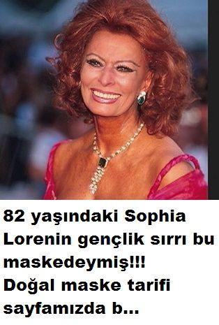 Ünlü yıldız Sophia Loren 82 yaşında olmasına rağmen hala çok güzel ve yaşını hiç göstermeyen bayanlardan geçenlerde katıldığı bir programda uzun yıllardan beri düzenli olarak cildi için kullandığı maskenin tarifini verdi Sophia Lorenin gençlik...