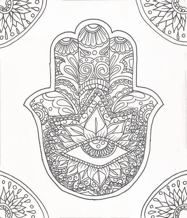 hamsa hand coloring page hamsa outline doodles and doodles pinterest f rben kreise und. Black Bedroom Furniture Sets. Home Design Ideas