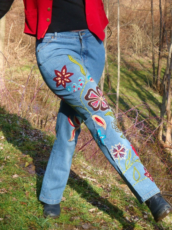 20 best jeans with embroidery diamante images on pinterest vintage embroidered floral denim jeans by taborstreasures on etsy ccuart Gallery