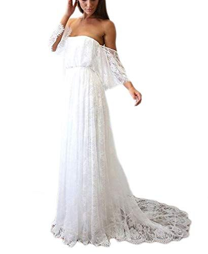 The perfect Ellenhouse Women s Lace Long Vintage Beach Wedding Dresses  Bohemian Bridal Gowns online.   114.99  offerdressforyou from top store fa8e13b4f0