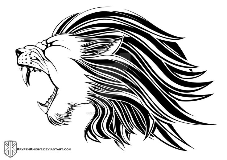 Lion Head Tribal by KryptnKnight.deviantart.com on @DeviantArt