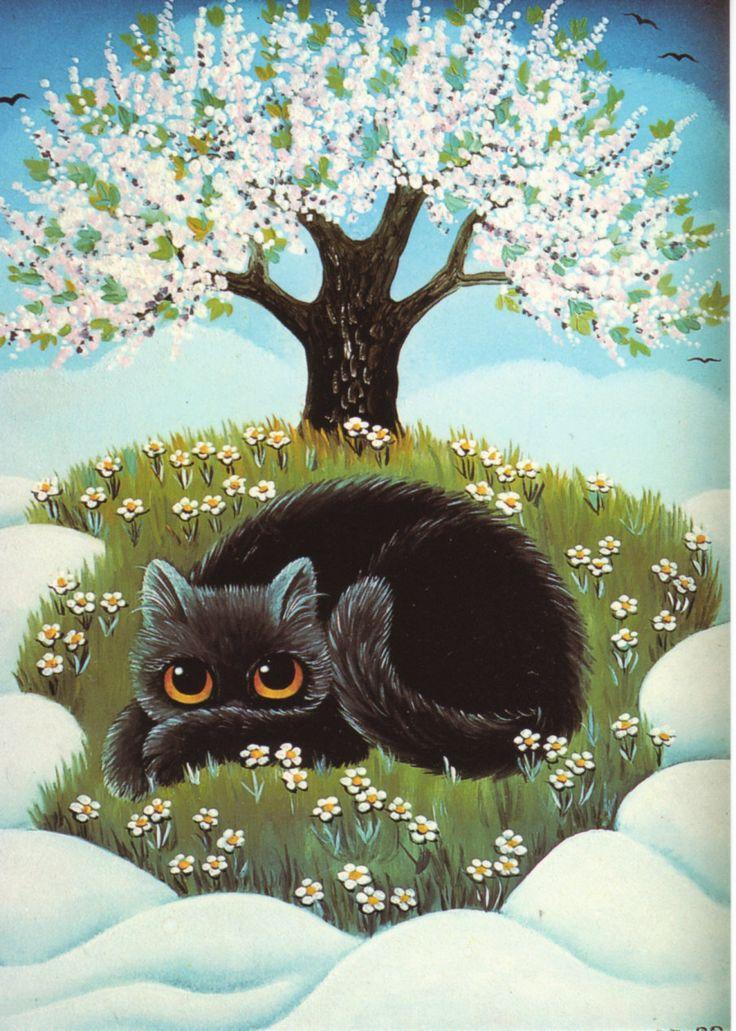 Открытки коты весной, клубные тусовки марта