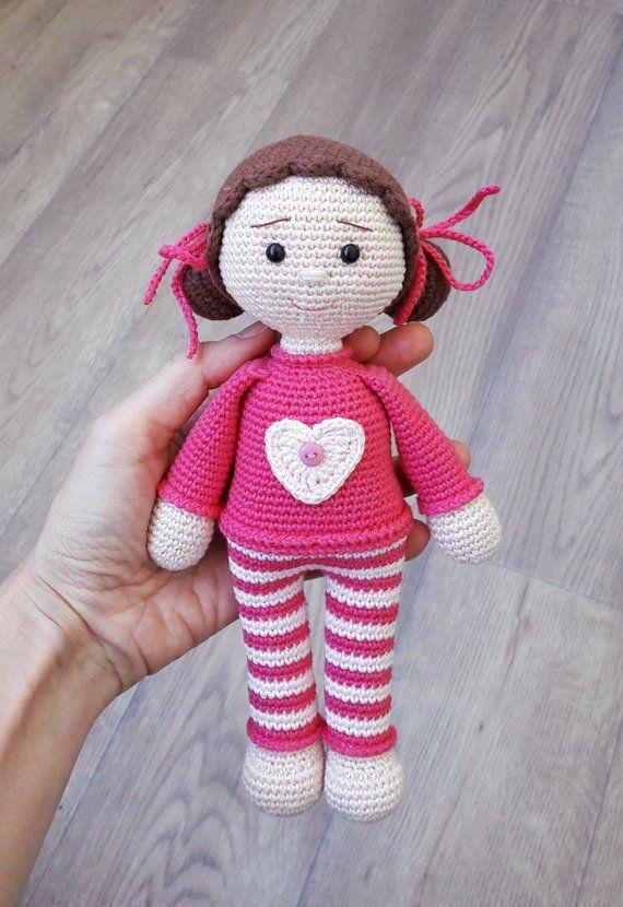 Häkelpuppe Puppe Amigurumi Häkelpuppe Spielzeug für | Etsy   – Denenecek projeler