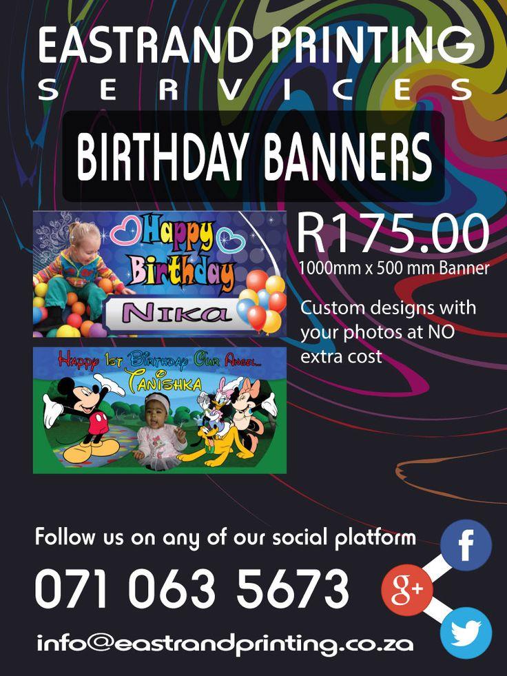 Birthdays, Kids Parties, Kids Banners, Printing