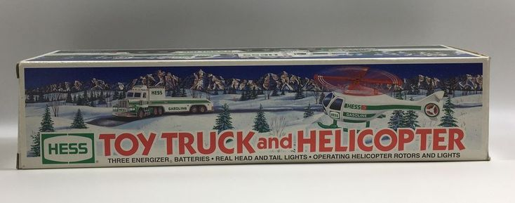 1995 Hess Toy Truck and Helicopter New In Box #Hess