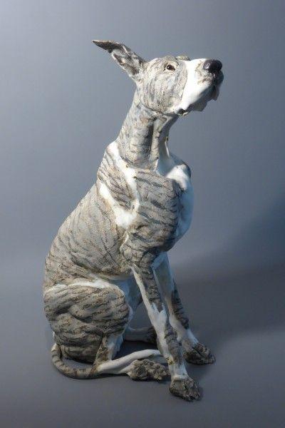 Sitting Dog by Elaine Peto