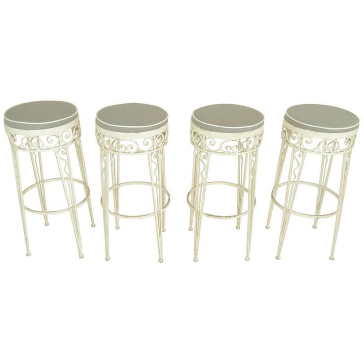 Wrought Iron Stools from 1970s
