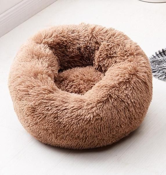 Awesome Cat Winter Warm Soft Plush Round Bed House Dog Beds For Small Dogs Dog Bed Round Dog Bed