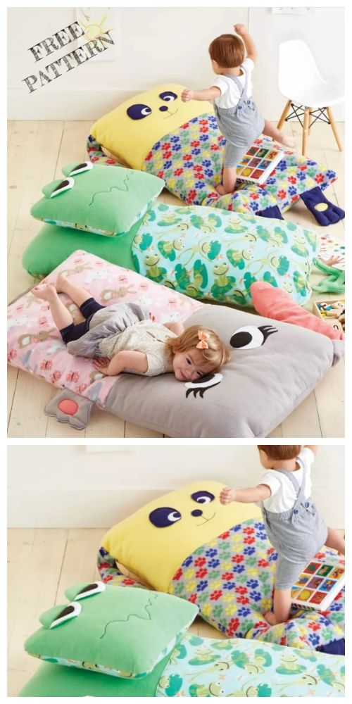 DIY Kids Animal Floor Pillow Free Sewing Patterns