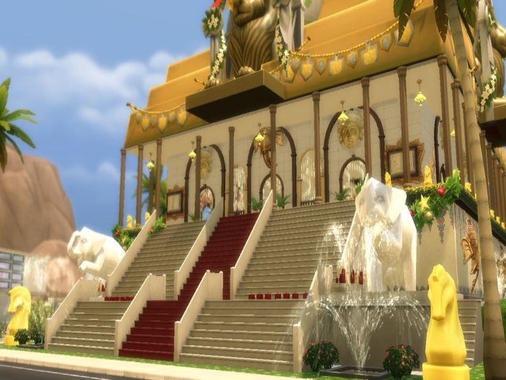 The beautiful and splendid 'MAHASHAKTI TEMPLE', dedicated to the three Hindu Goddesses- Durga , Lakshmi and Saraswati; has turned into the most important centre of cultural exchange among the Indians of Sims Nation.  Read more: http://www.thesimsresource.com/downloads/details/category/sims4-lots-community/title/mahashakti-temple./id/1338377/#ixzz47c4Ci5lD