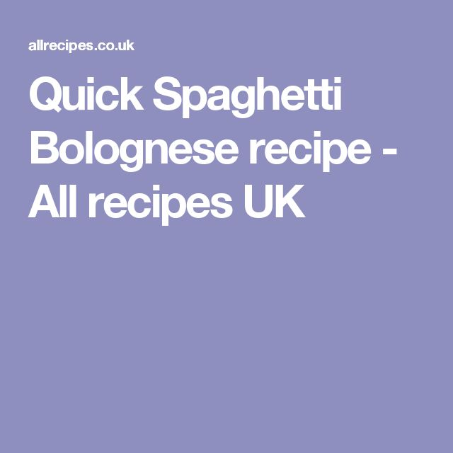 Quick Spaghetti Bolognese recipe - All recipes UK
