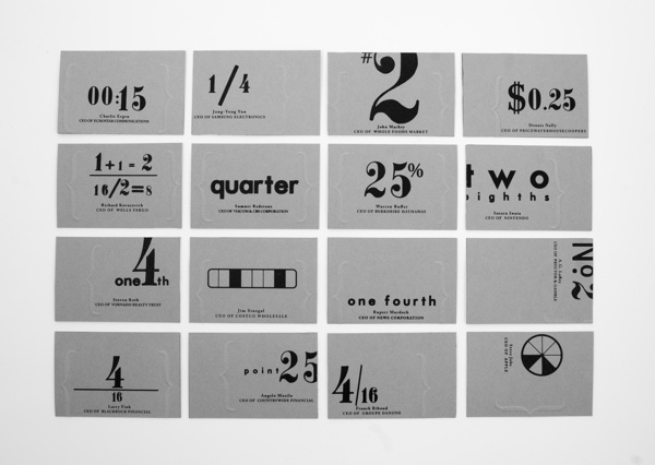 Two Bits business cards by Leah Kirsten, via Behance