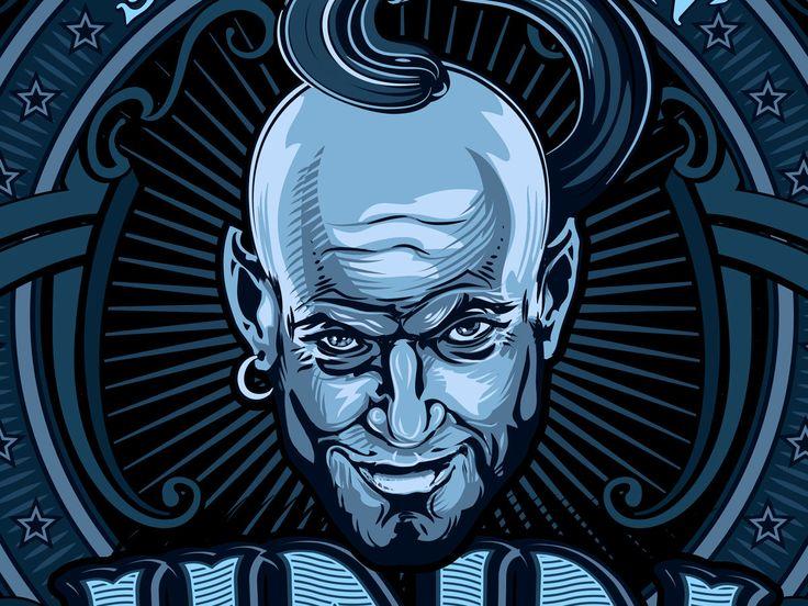 Fragment vector illustration. Artwork logo music group Jinn.