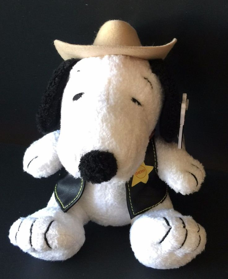 Never played with. Does have a slight mark on brim of hat (see last picture with ink pen pointing to area). Knotts Berry Farms. Snoopy character. Western Cowboy theme. Looks great and is an awesome collectible.This one is very hard to find. | eBay!