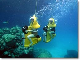 Underwater Scooters, St. Thomas...  on my bucket list for my next cruise