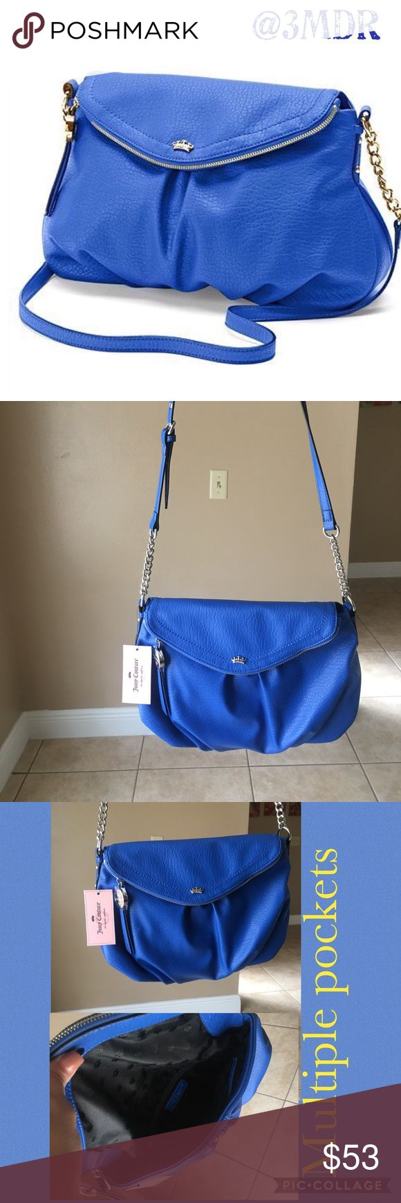 Price Drop ⬇️ Indigo Blue Juicy Couture Purse NWT NWT Juicy Couture Purse with Multiple Pockets 💙 Reasonable Offers Welcomed 💙 Bundle and Save Juicy Couture Bags