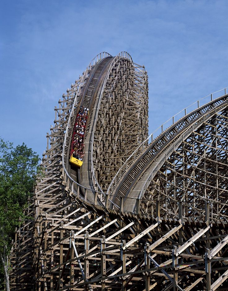 """Son of Beast"" roller coaster at King's Island amusement park, Mason, Ohio (razed 2012)"