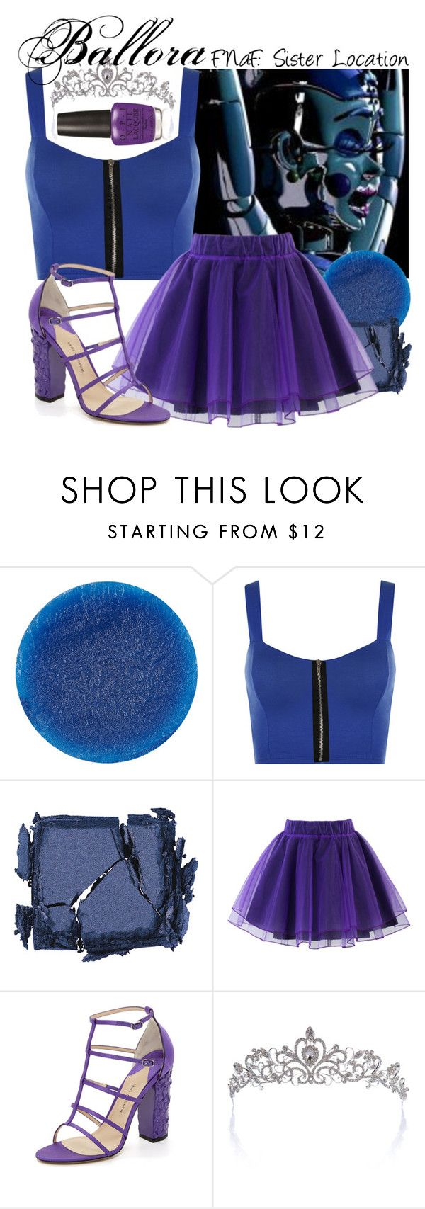 """""""FNaF: Sister Location- Ballora"""" by frozenfanatic2019 ❤ liked on Polyvore featuring Freddy, Lipstick Queen, WearAll, Surratt, Chicwish, Paul Andrew and OPI"""
