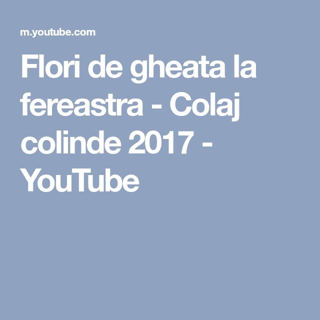 Flori de gheata la fereastra - Colaj colinde 2017 - YouTube