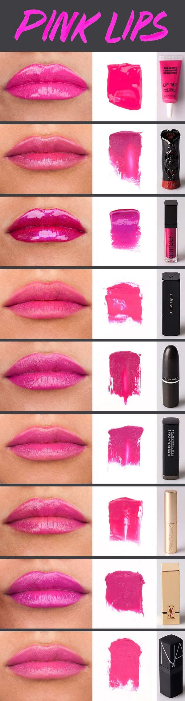 Different shades of pink lipsticks #poshprofs