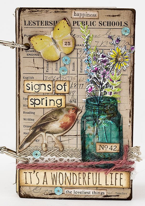 special guest designer Anna-Karin Evaldsson's presents: Signs of Spring Notebook! On the Simon Says Stamp blog