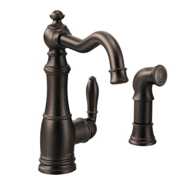 weymouth oil rubbed bronze one handle high arc kitchen faucet rh pinterest com