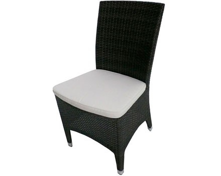Tall, Dark And Handsome, The Luigi Wicker Dining Side Chair Is An Ideal  Addition · Teak FurnitureOutdoor ...