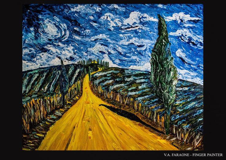 """TUSCANY"" oil on canvas 100x80 cm  fingerpaint technique  www.faraonepainter.com  Ti piace e vuoi acquistarlo? Do you like it? Buy it!  https://www.etsy.com/it/listing/548657657/olio-su-telafinger-paintingtuscanyquadro?ref=shop_home_active_4"