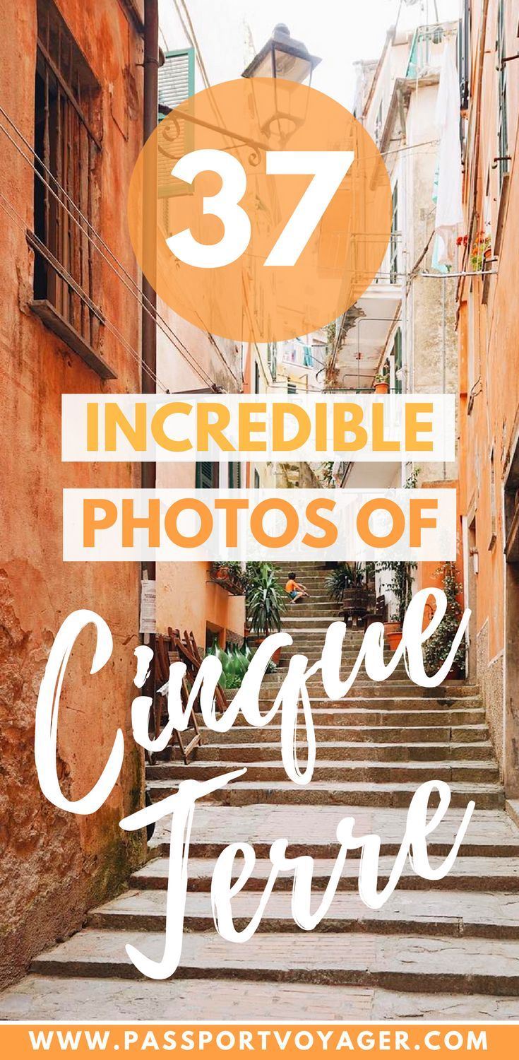 37 gorgeous photos of Italy's coastal gem, Cinque Terre to inspire your wanderlust and make you bump Cinque Terre up your bucketlist for 2018! #italy #cinqueterre #photos #travel #europe #bucketlist