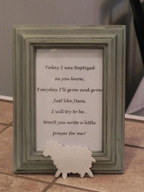prayer tree at baptism party - such a great idea!