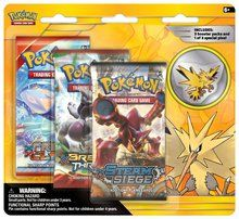 Pokemon Legendary Birds 3 Pack Blister with Zapdos Collectors Pin