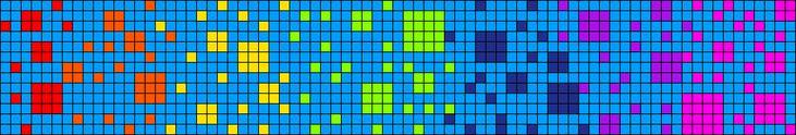 Squares Alpha Friendship Bracelet Pattern #17298 - BraceletBook.com