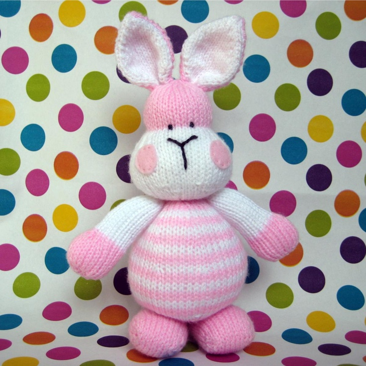 Marshmallow Bunny Rabbit toy knitting pattern
