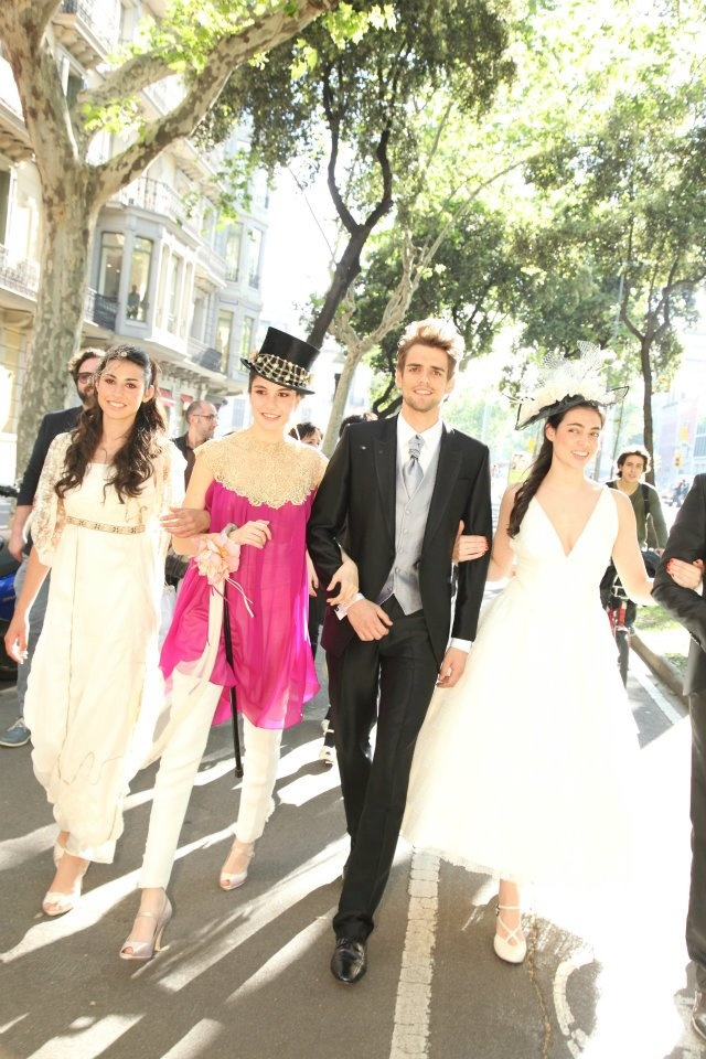 Desfile urbano Entrecosturas Ateliers 2012.