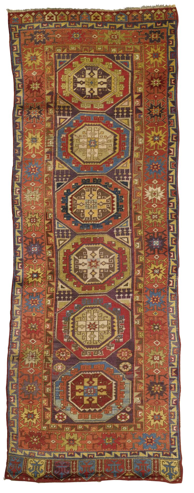 Central Anatolian runner approximately 10ft. 3in. by 3ft. 9in. (3.12 by 1.14m.) circa 1890