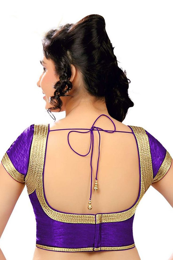 #Purple casual wear raw #silk #blouse with cap sleeves -BL663