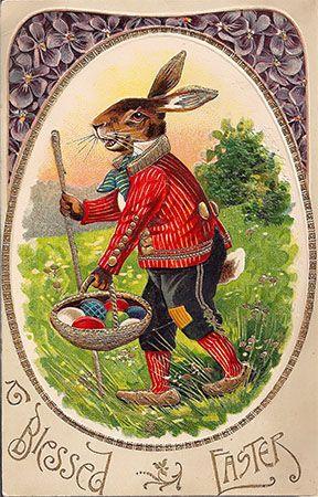 Old Vintage Easter | Vintage Easter Bunny Card