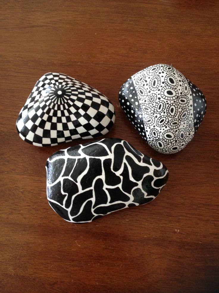 Håndmalede sten - www.metteshobby.dk